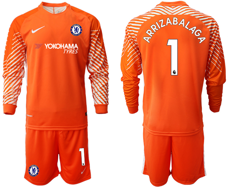 Men 2018_2019 Club Chelsea orange goalkeeper long sleeve 1 soccer jerseys
