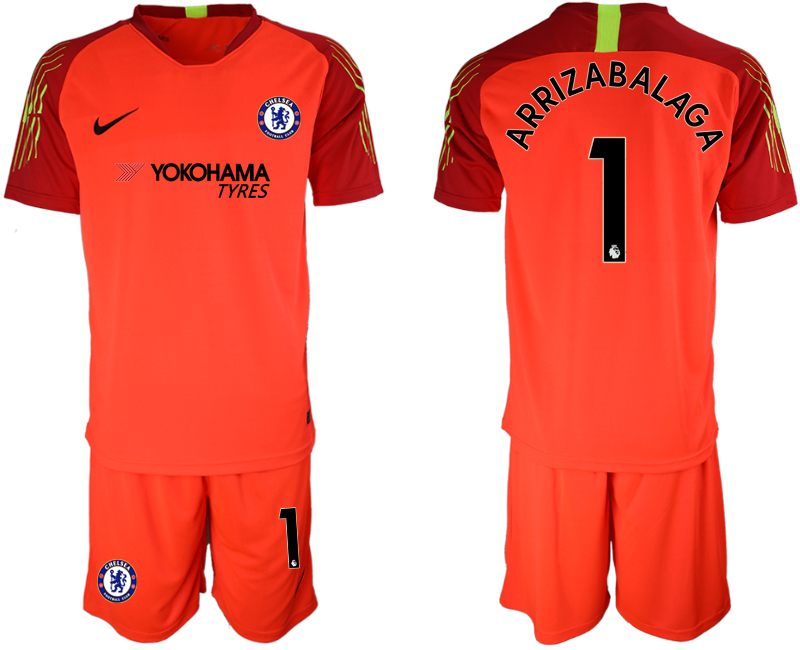 Men 2018_2019 Club Chelsea red goalkeeper 1 soccer jerseys