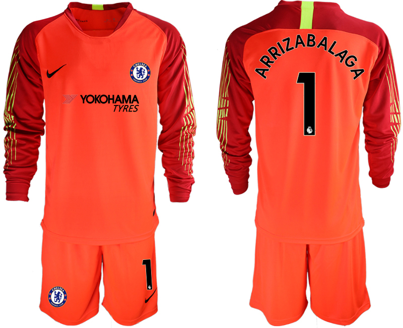 Men 2018_2019 Club Chelsea red goalkeeper long sleeve 1 soccer jerseys