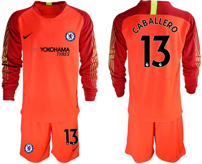 Men 2018_2019 Club Chelsea red goalkeeper long sleeve 13 soccer jerseys