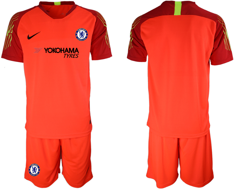Men 2018_2019 Club Chelsea red goalkeeper soccer jerseys