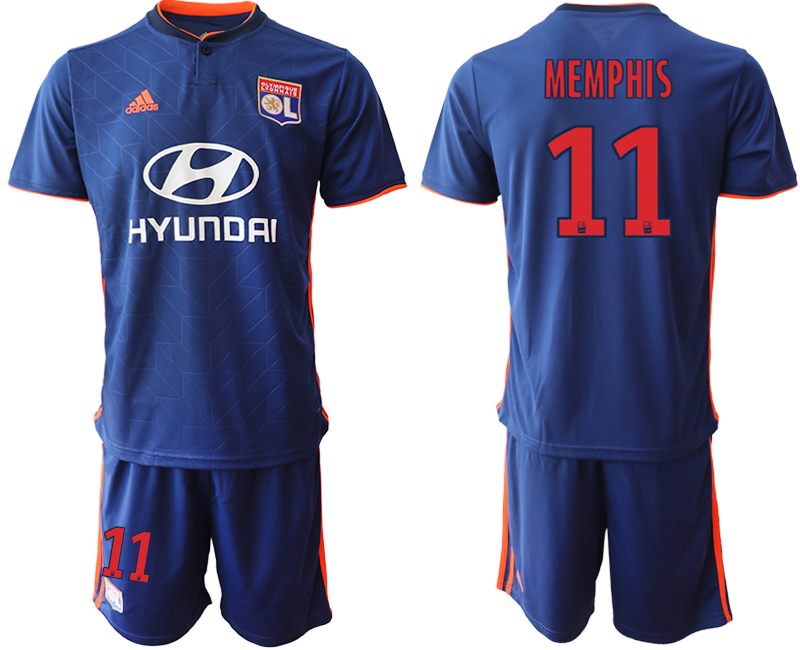 Men 2018_2019 Club Olympique Lyonnais away 11 soccer jerseys
