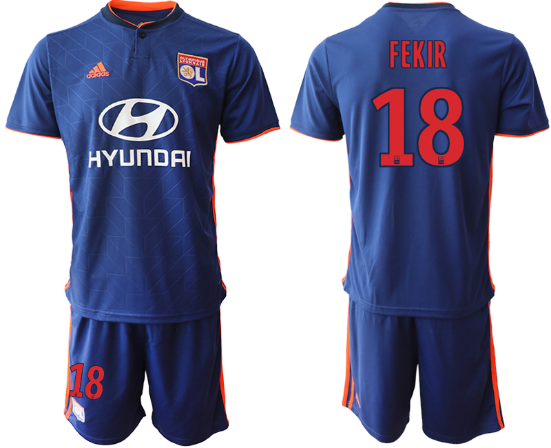 Men 2018_2019 Club Olympique Lyonnais away 18 soccer jerseys