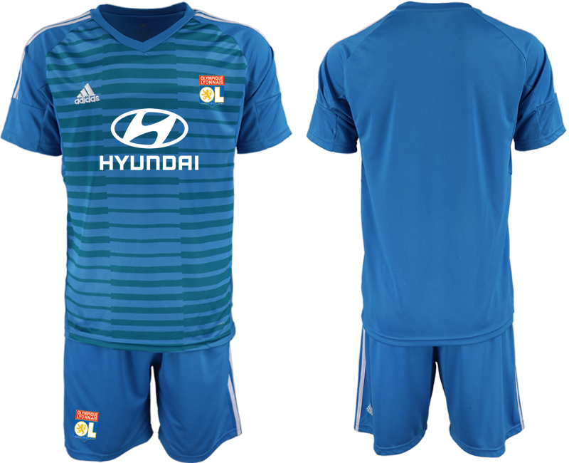 Men 2018_2019 Club Olympique Lyonnais blue goalkeeper soccer jerseys