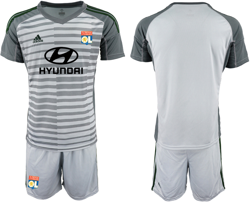 Men 2018_2019 Club Olympique Lyonnais gray goalkeeper soccer jerseys