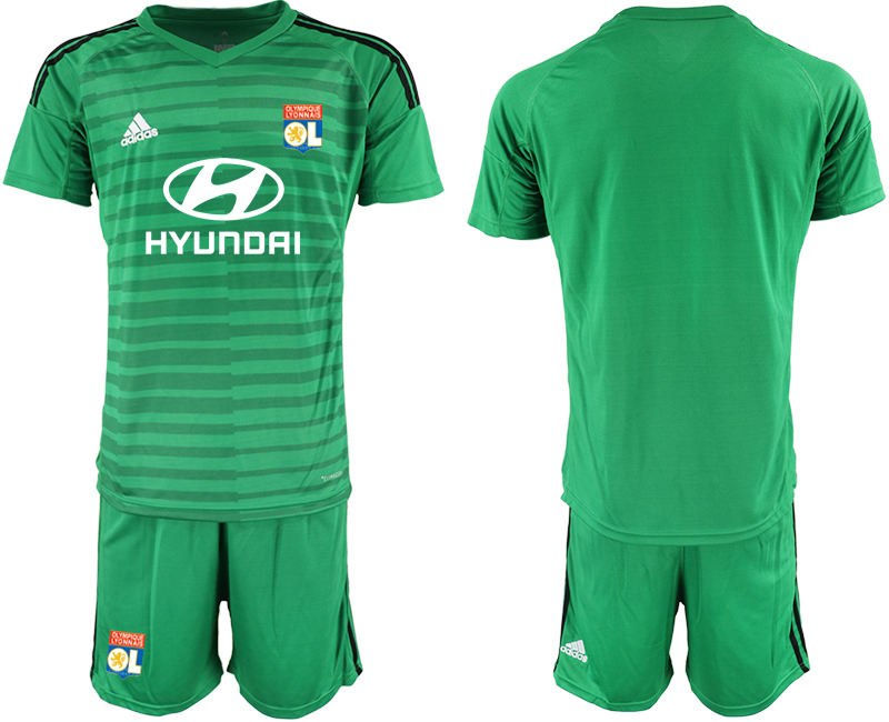 Men 2018_2019 Club Olympique Lyonnais green goalkeeper soccer jerseys