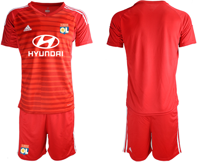Men 2018_2019 Club Olympique Lyonnais red goalkeeper soccer jerseys