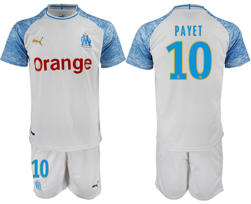 Men 2018_2019 Club Olympique de Marseille home 10 soccer jerseys