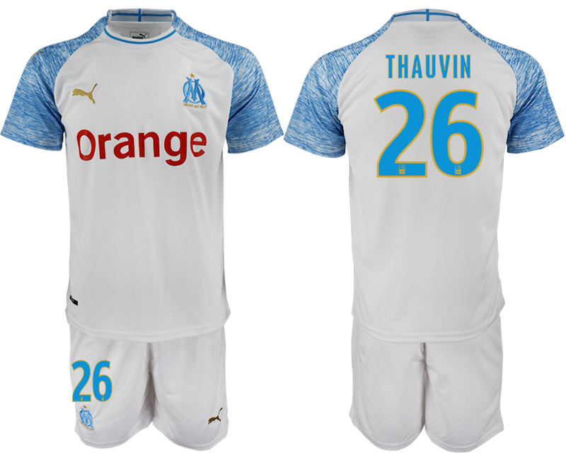 Men 2018_2019 Club Olympique de Marseille home 26 soccer jerseys