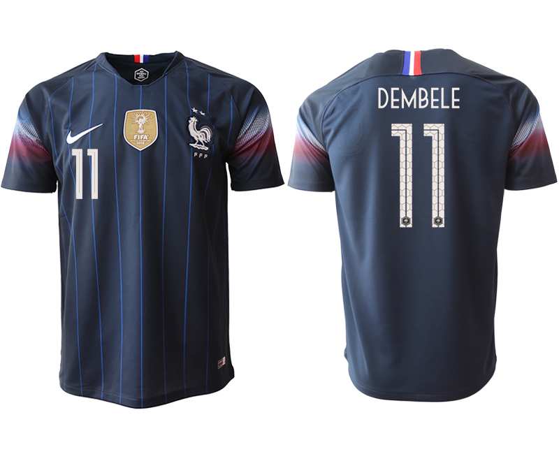 Men 2018_2019 National France home aaa version 11 Soccer jerseys