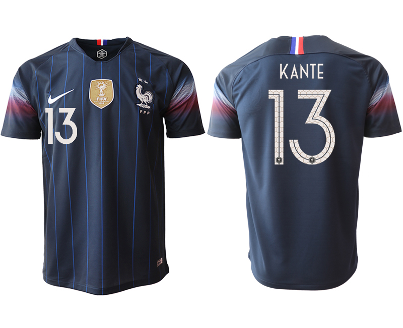 Men 2018_2019 National France home aaa version 13 Soccer jerseys