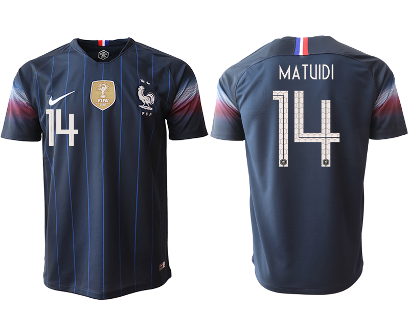 Men 2018_2019 National France home aaa version 14 Soccer jerseys