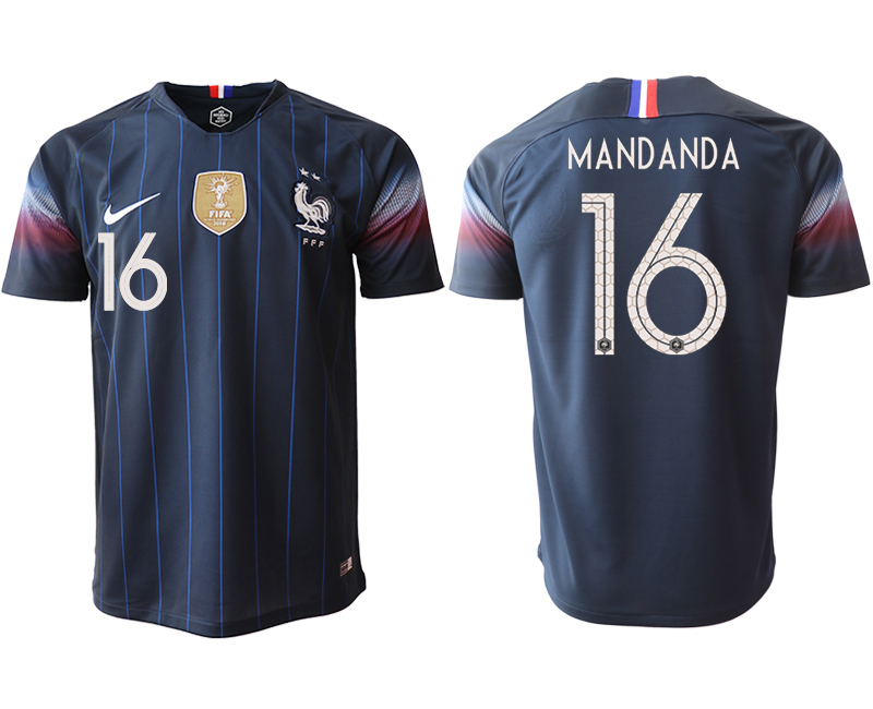 Men 2018_2019 National France home aaa version 16 Soccer jerseys