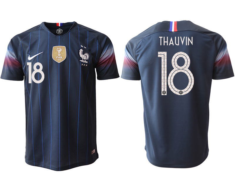 Men 2018_2019 National France home aaa version 18 Soccer jerseys