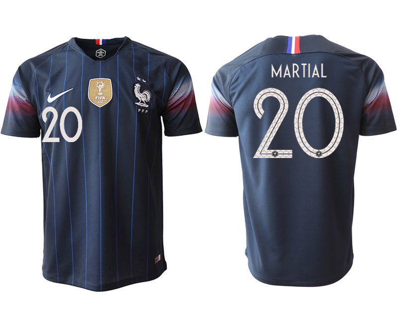 Men 2018_2019 National France home aaa version 20 Soccer jerseys