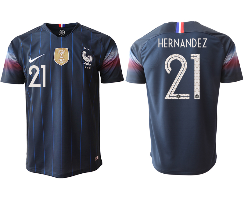Men 2018_2019 National France home aaa version 21 Soccer jerseys