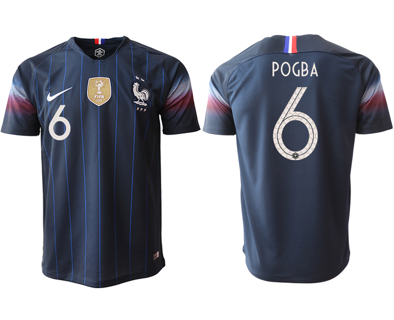 Men 2018_2019 National France home aaa version 6 Soccer jerseys
