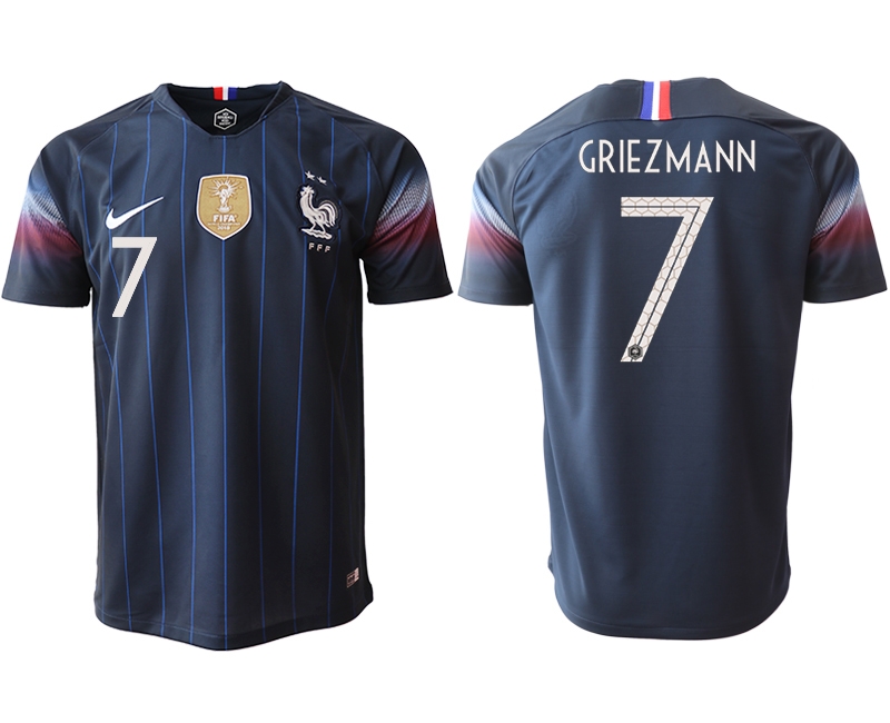 Men 2018_2019 National France home aaa version 7 Soccer jerseys