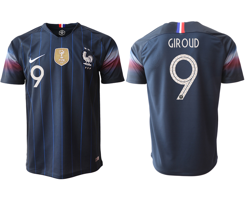 Men 2018_2019 National France home aaa version 9 Soccer jerseys