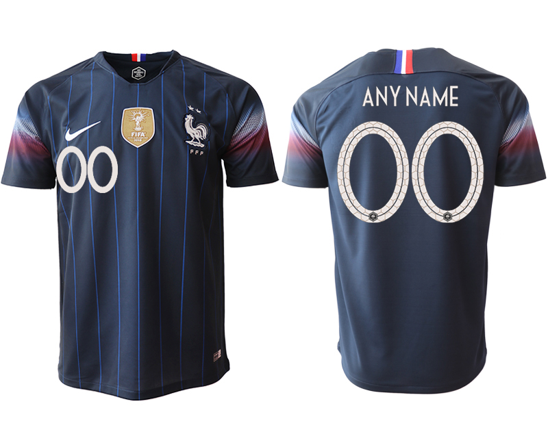Men 2018_2019 National France home aaa version Customized Soccer jerseys