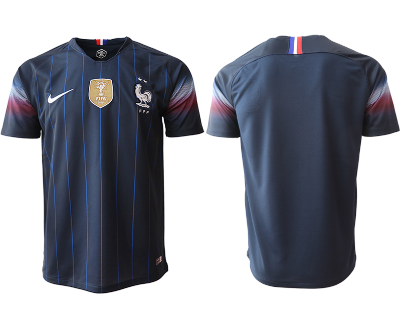 Men 2018_2019 National France home aaa version Soccer jerseys