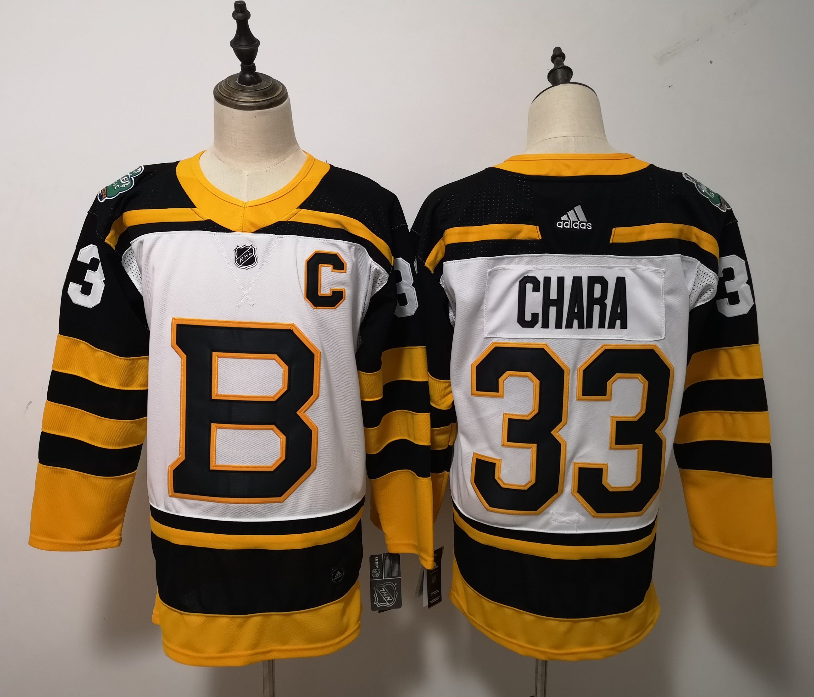 Men Boston Bruins 33 Chara White Adidas Authentic Winter Classic NHL Jersey