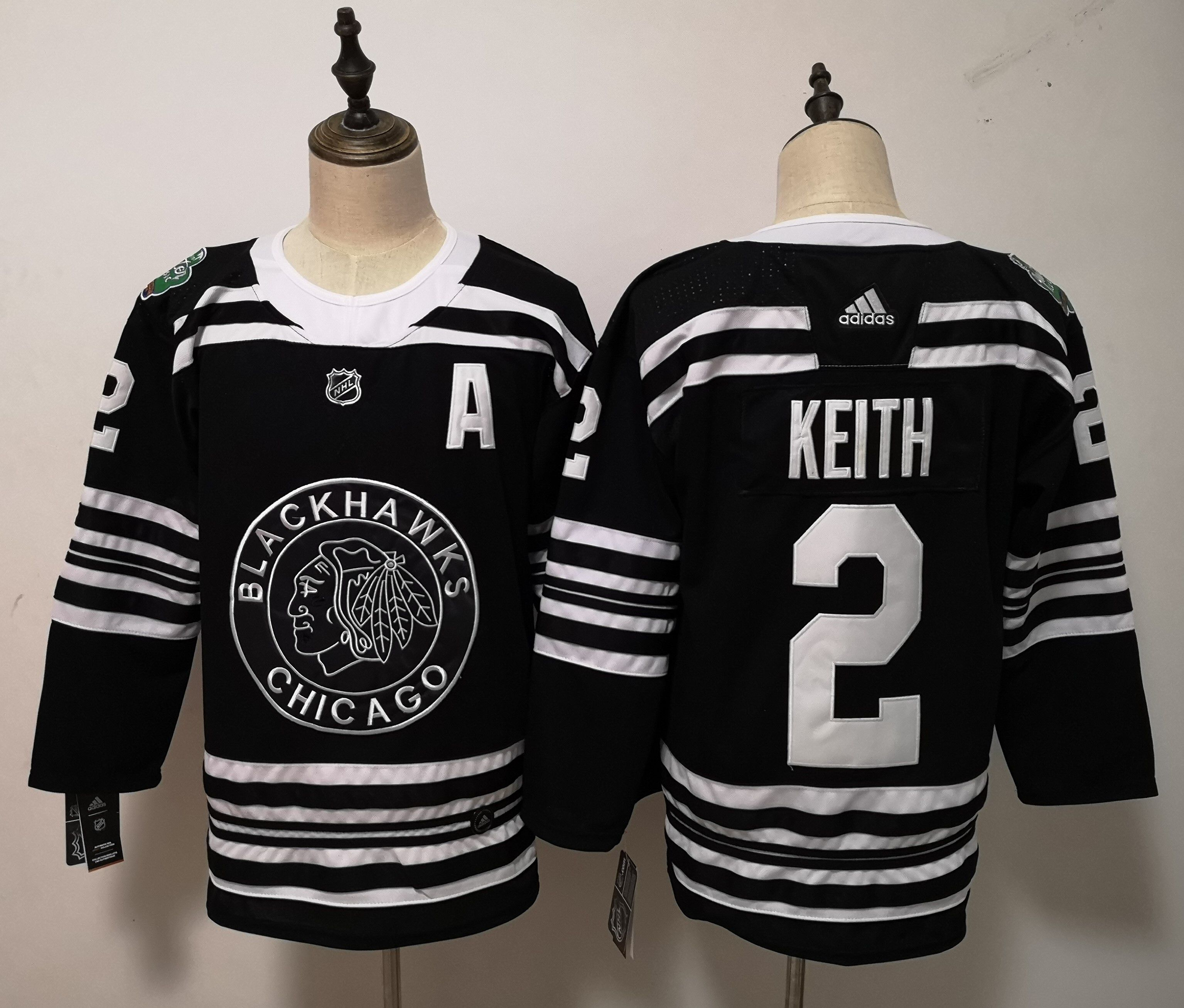dd503d4be Men Chicago Blackhawks 2 Keith Black Adidas Authentic Winter Classic NHL  Jersey