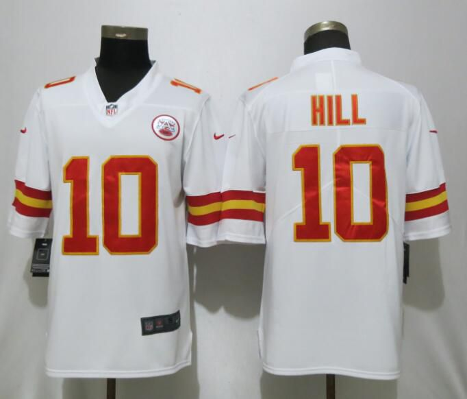 Men Kansas City Chiefs 10 Hill White Nike Vapor Untouchable Limited Player NFL Jerseys