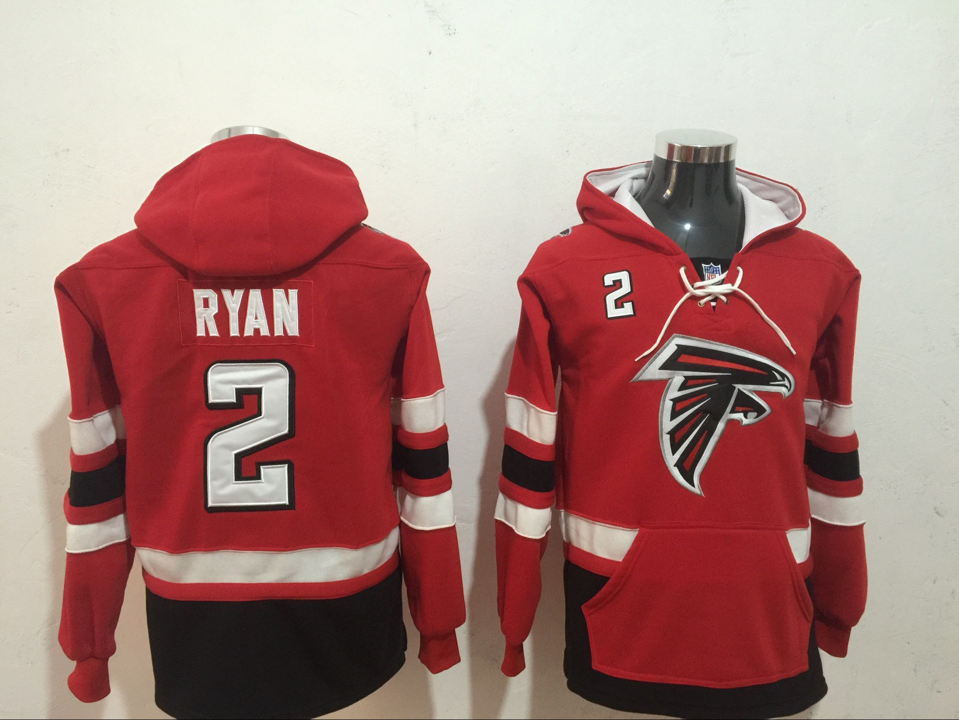 Men NFL Nike Atlanta Falcons 2 Ryan red Sweatshirts