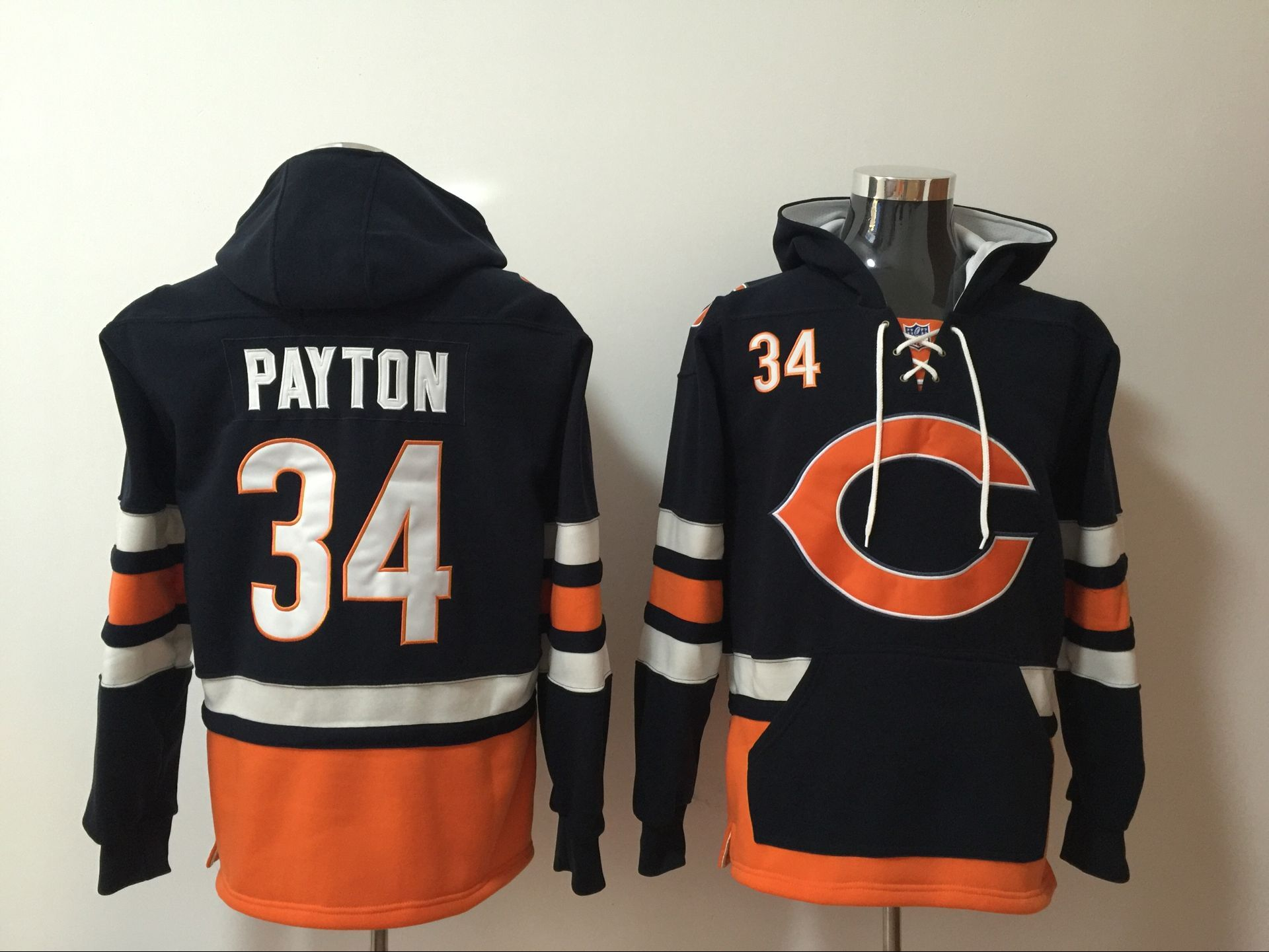 Men NFL Nike Chicago Bears 34 Payton blue Sweatshirts