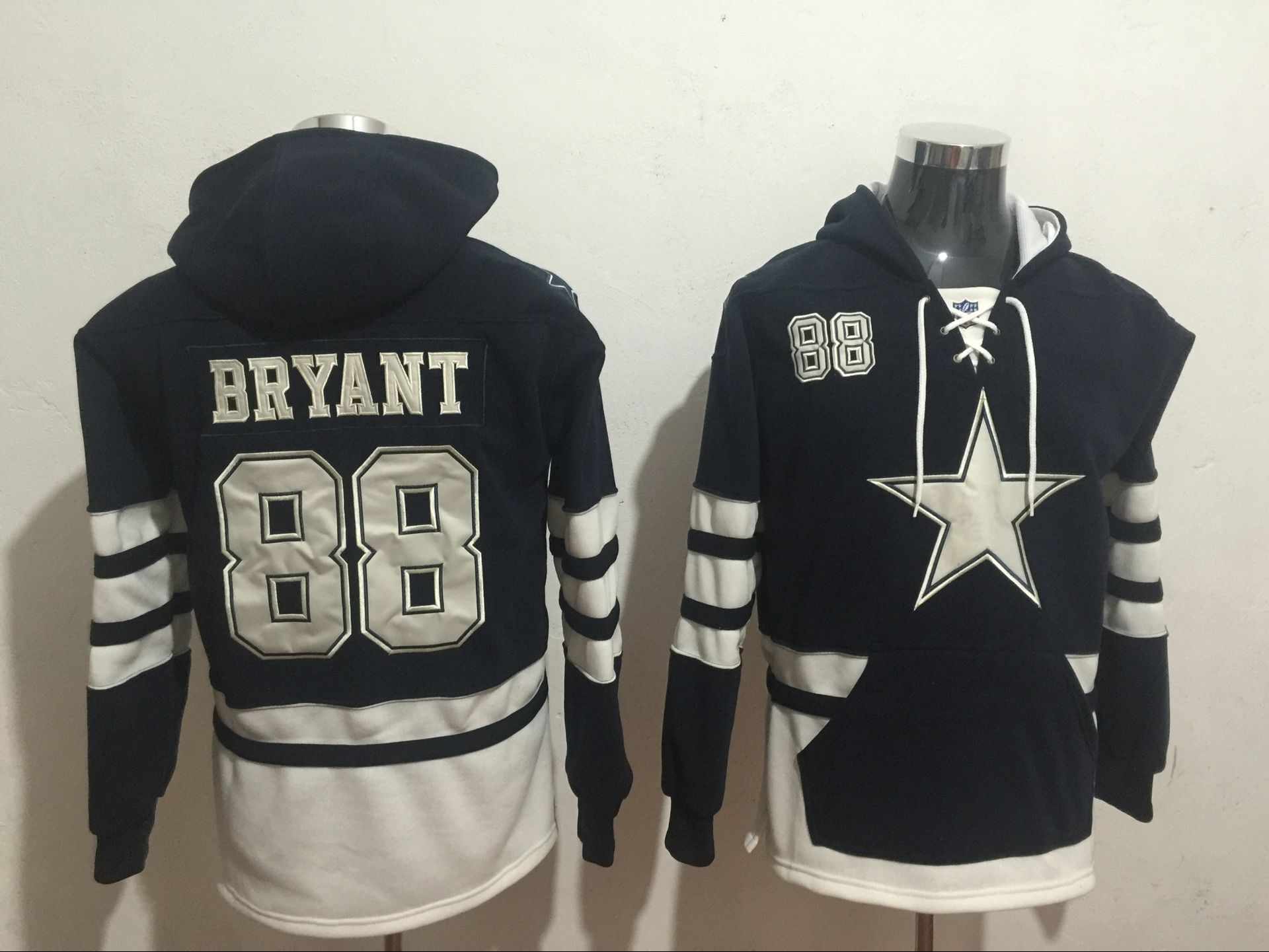 Men NFL Nike Dallas Cowboys 88 Bryant blue Sweatshirts