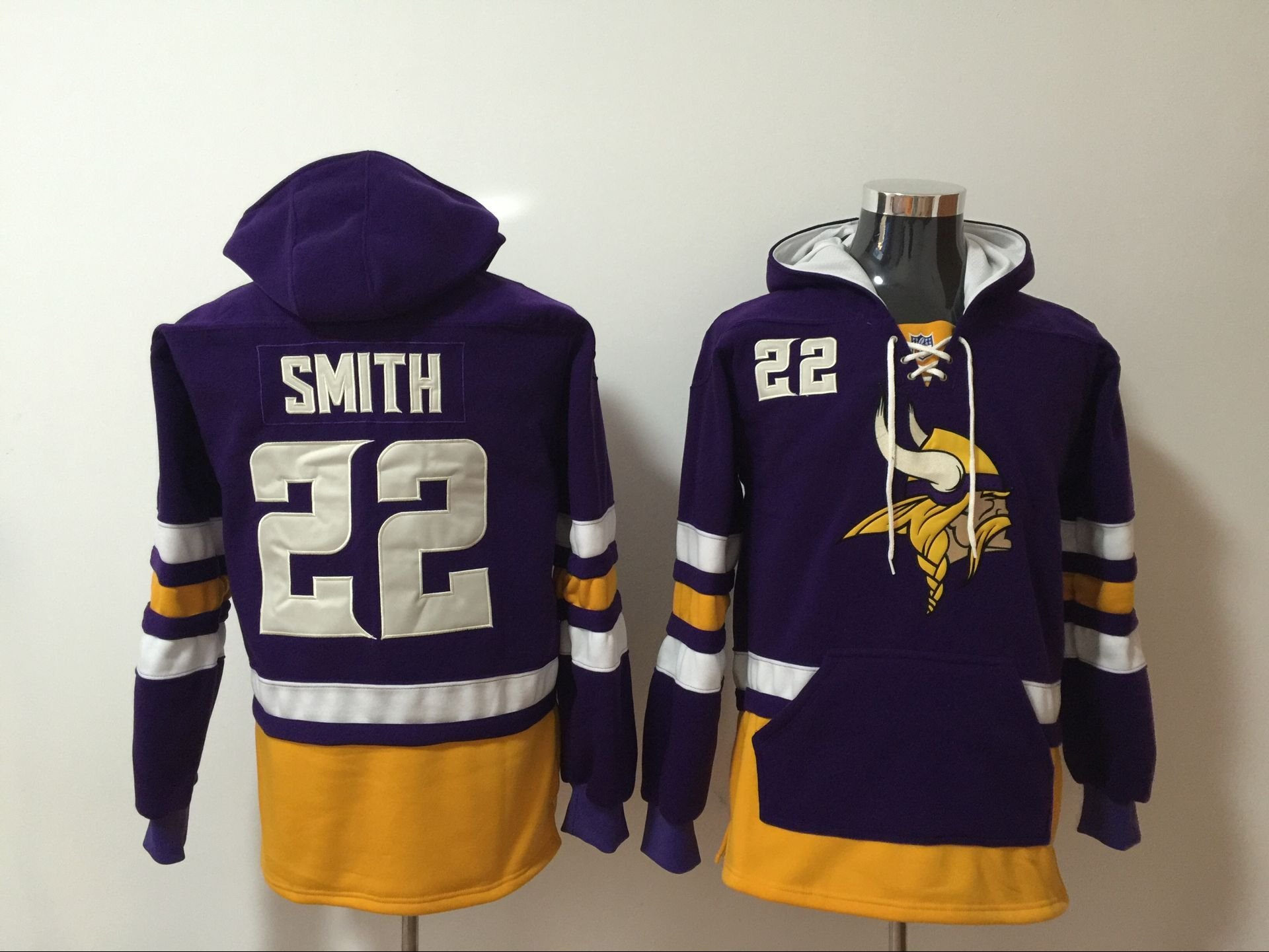 Men NFL Nike Minnesota Vikings 22 Smith purple Sweatshirts