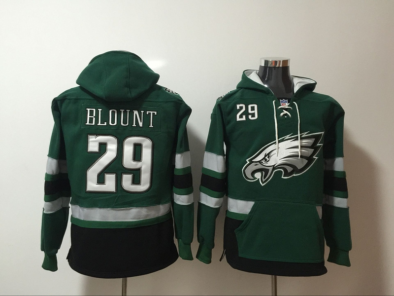 Men NFL Nike Philadelphia Eagles 29 Blount green Sweatshirts