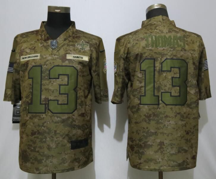 Men New Orleans Saints 13 Thomas Nike Camo Salute to Service Limited NFL Jerseys