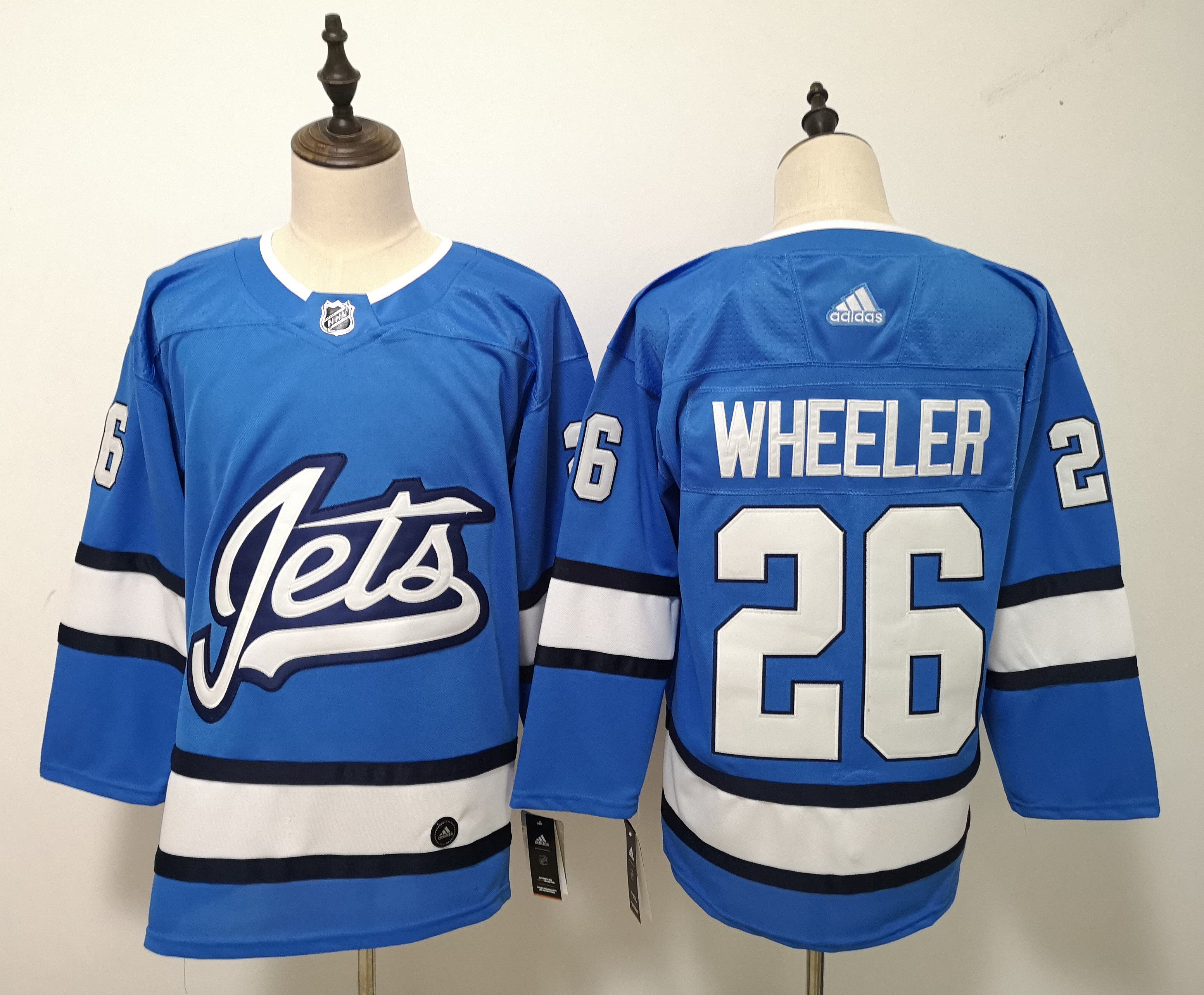 Men Winnipeg Jets 26 Wheeler Blue Adidas Alternate Authentic Stitched NHL Jersey