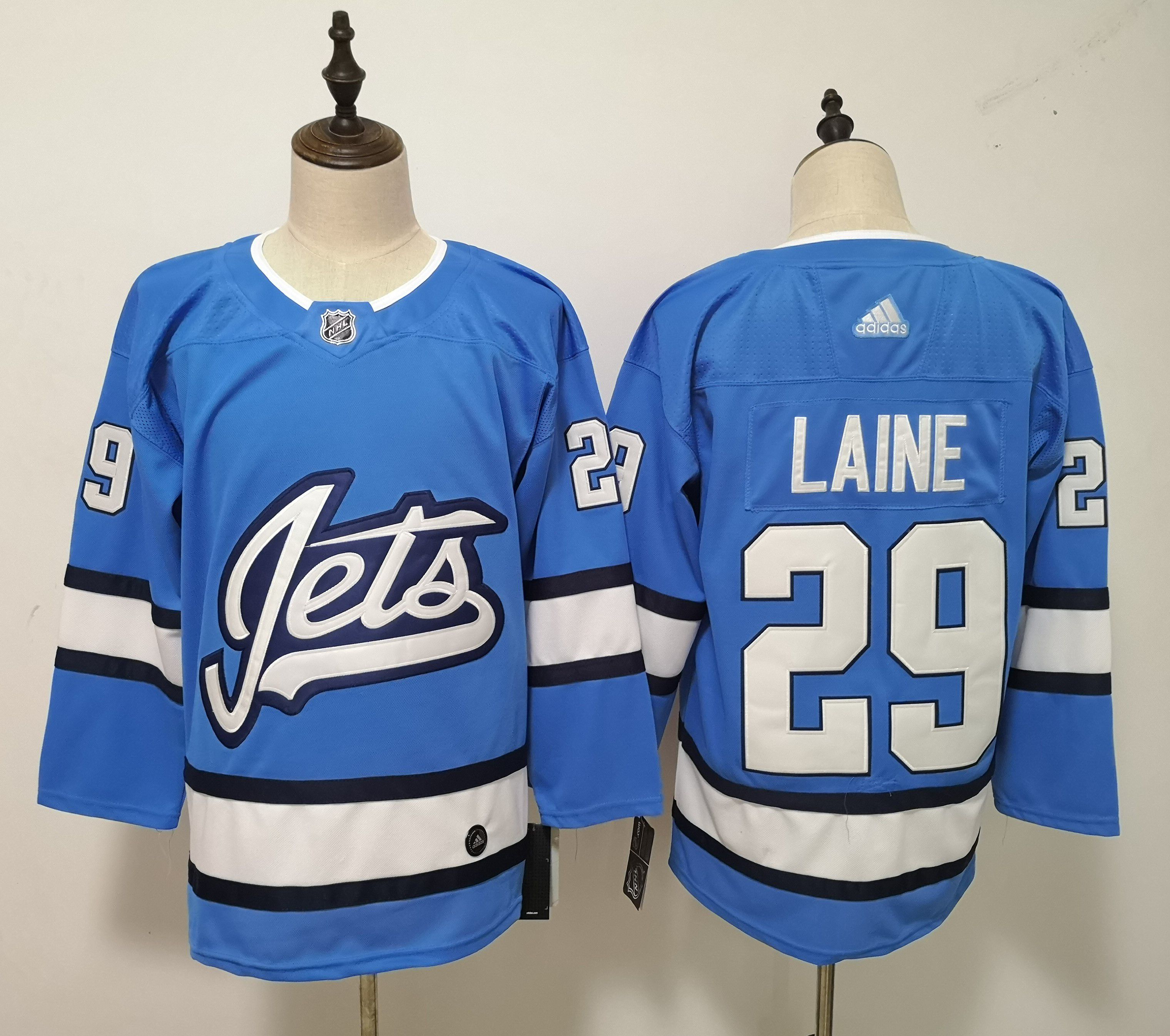 Men Winnipeg Jets 29 Laine Blue Adidas Alternate Authentic Stitched NHL Jersey