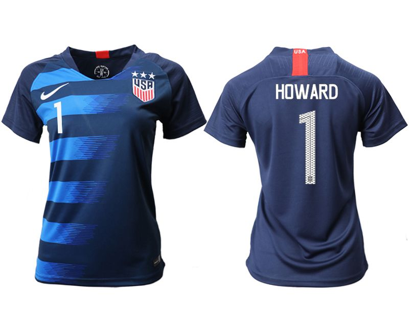 Women 2018-2019 National Team America away aaa 1 blue Soccer Jerseys