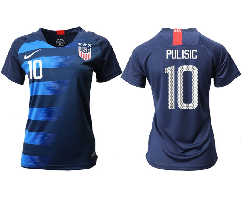 Women 2018-2019 National Team America away aaa 10 blue Soccer Jerseys1