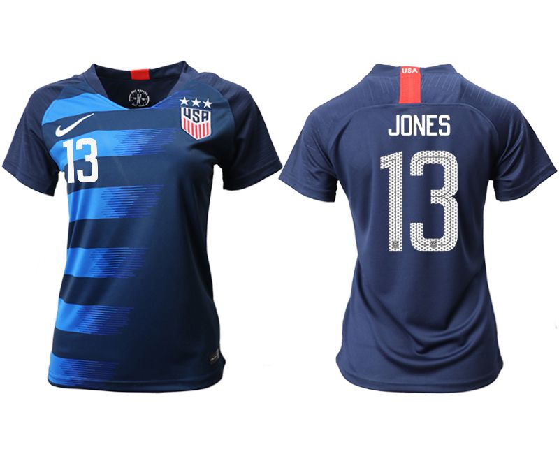 Women 2018-2019 National Team America away aaa 13 blue Soccer Jerseys