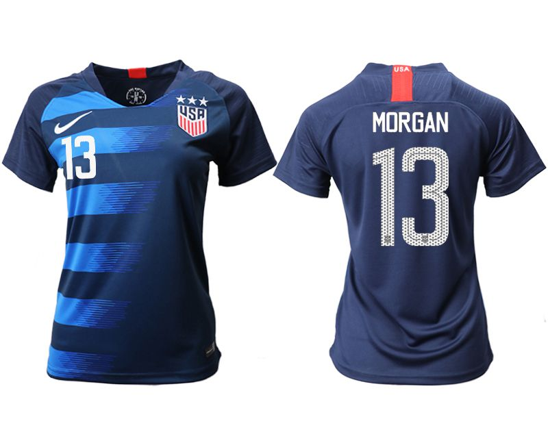 Women 2018-2019 National Team America away aaa 13 blue Soccer Jerseys1