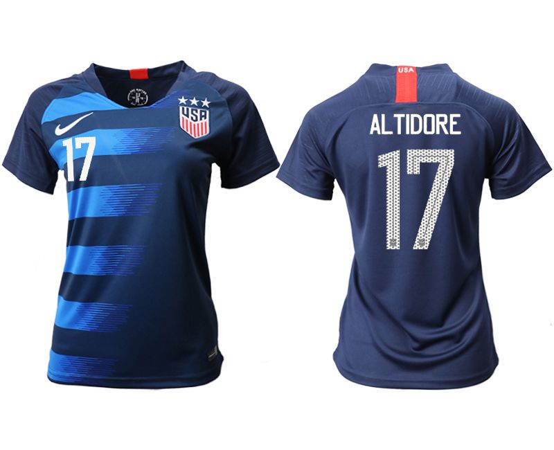 Women 2018-2019 National Team America away aaa 17 blue Soccer Jerseys