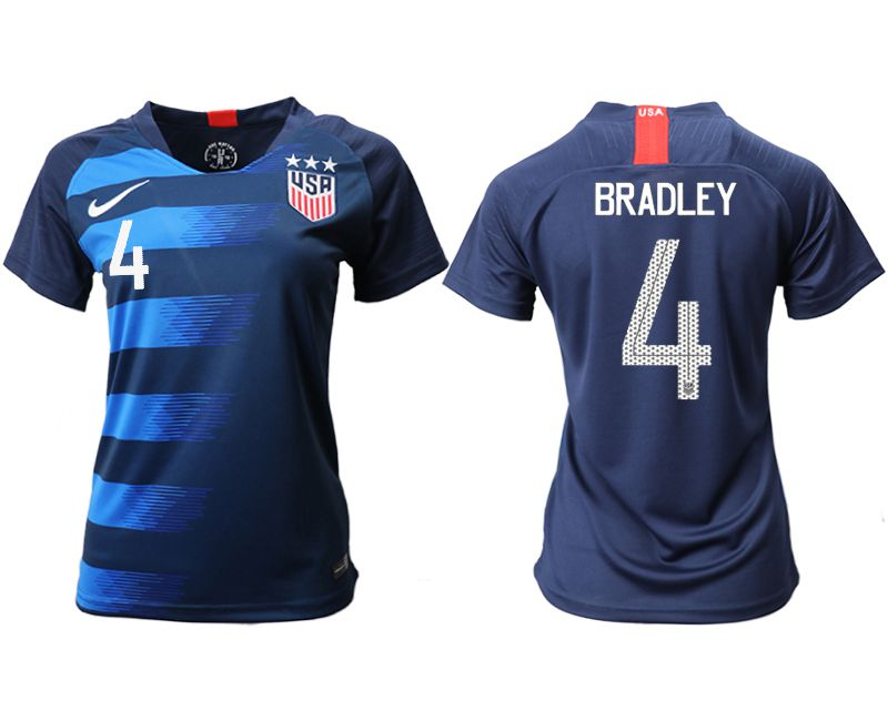 Women 2018-2019 National Team America away aaa 4 blue Soccer Jerseys