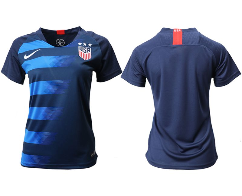 Women 2018-2019 National Team America away aaa blue Soccer Jerseys
