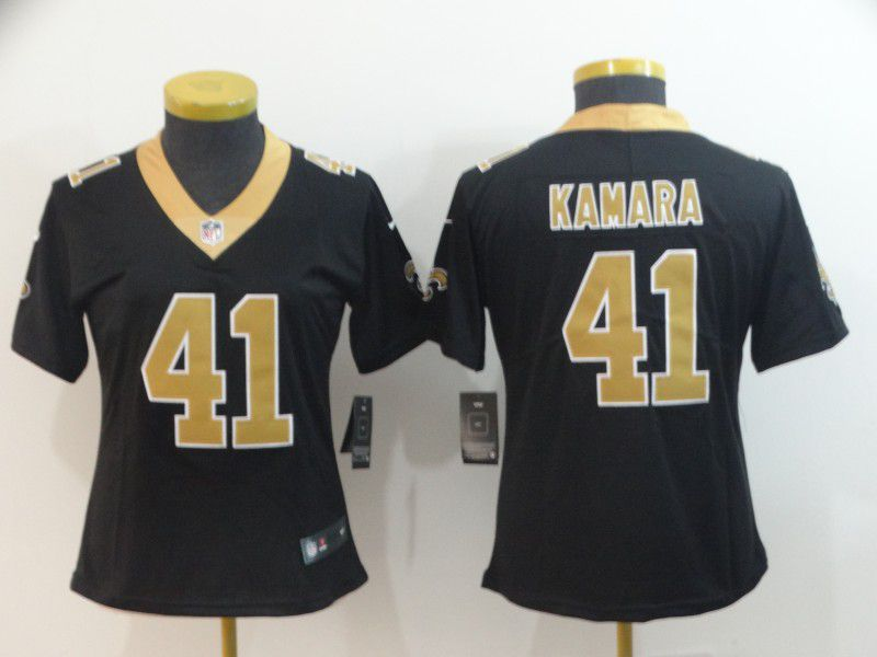 Women New Orleans Saints 41 Kamara Black Nike Vapor Untouchable Limited Player NFL Jerseys
