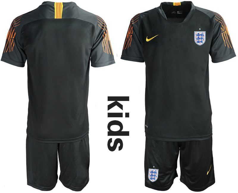Youth 2018 World Cup England black goalkeeper Soccer Jerseys