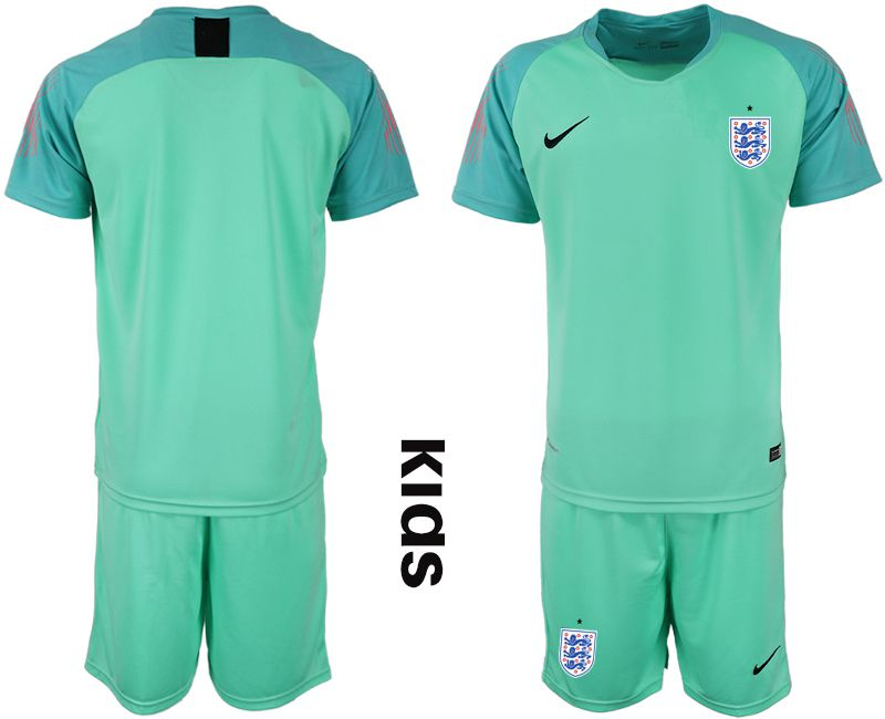 Youth 2018 World Cup England green goalkeeper Soccer Jerseys