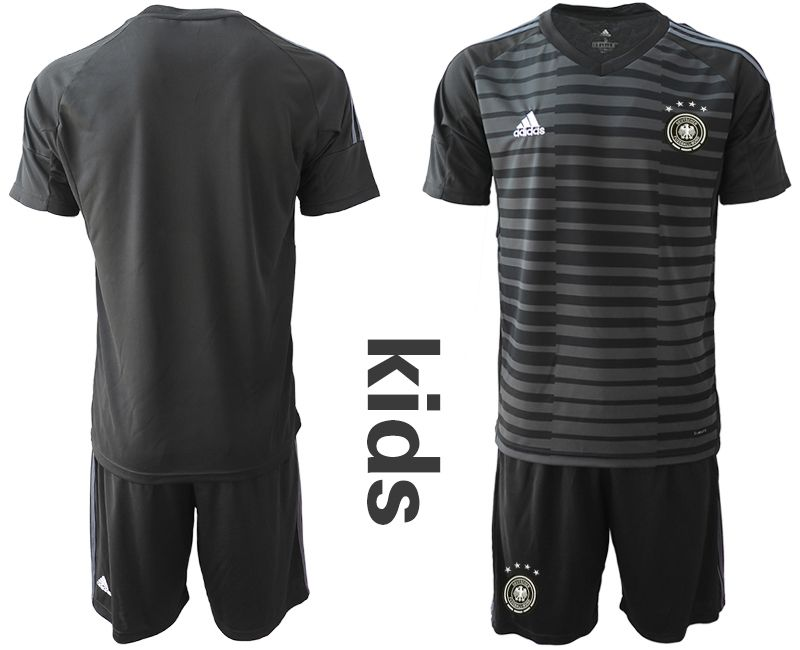 Youth 2018 World Cup Germany black goalkeeper soccer jersey