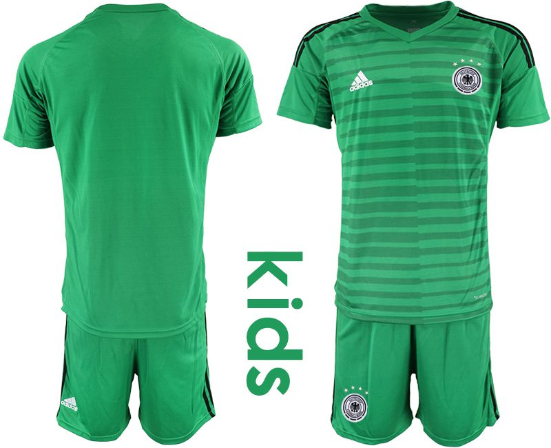 Youth 2018 World Cup Germany green goalkeeper soccer jersey