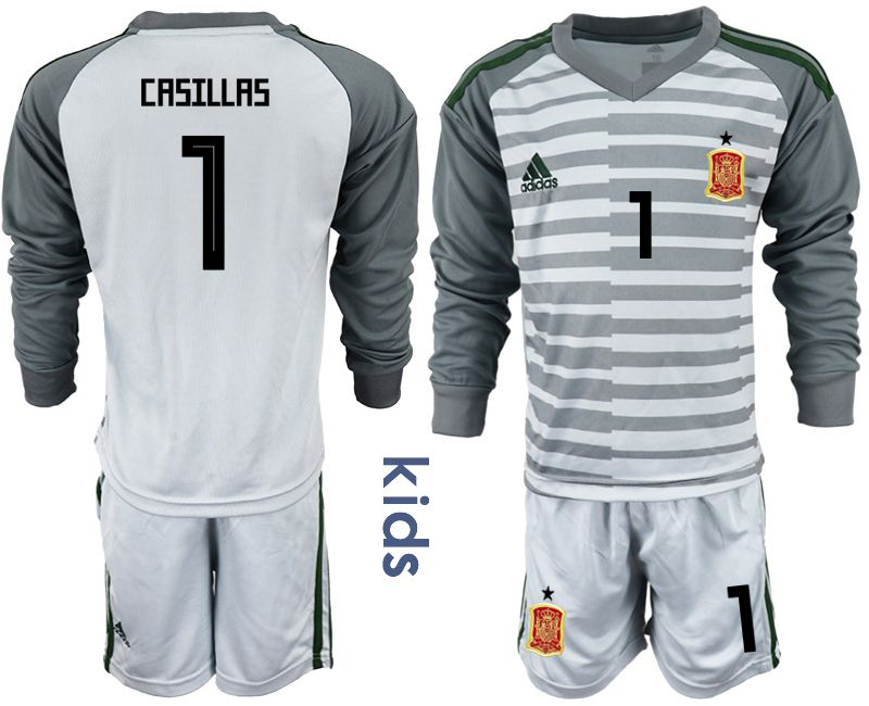 Youth 2018 World Cup spain gray long sleeve goalkeeper 1 Soccer Jerseys1
