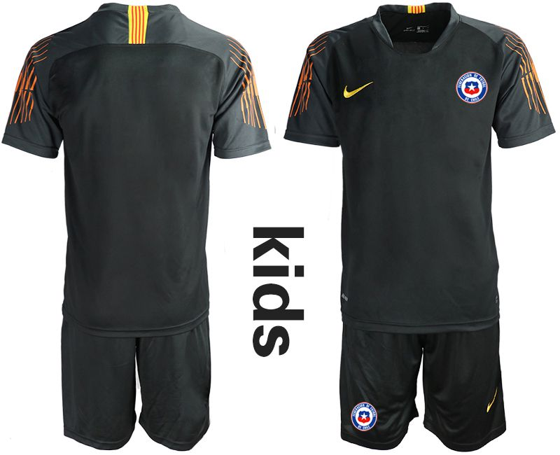 Youth 2018-2019 National Chile black goalkeeper Soccer Jerseys